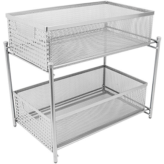 Sorbus 2 Tier Organizer Baskets with Mesh SlidingDrawers