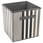Sorbus Foldable Storage Cube Basket Bin Vertical Stripe Line Pattern