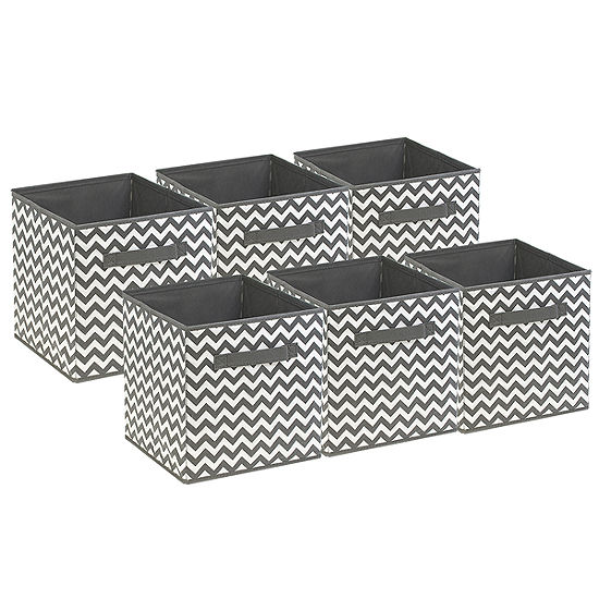 Sorbus Foldable Storage Cube Basket Bin 6 PackChevron Pattern