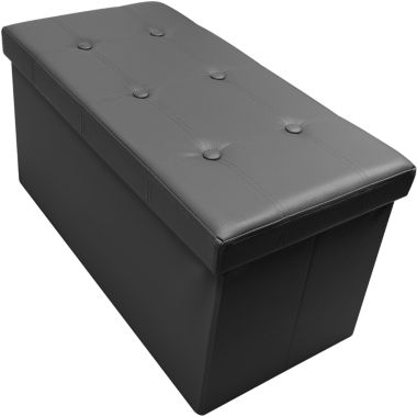 Sorbus Storage Bench Chest– Collapsible/FoldingBench Ottoman with Cover