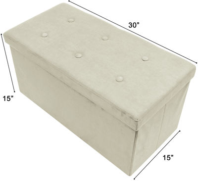 Sorbus Storage Bench Chest – Collapsible/FoldingBench Ottoman with Cover