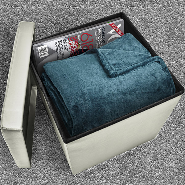 Sorbus Storage Ottoman - Collapsible/Folding CubeOttoman with Cover