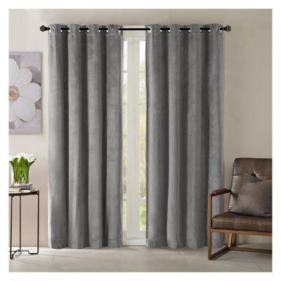 Madison Park Yvette Room Darkening Room Darkening Grommet-Top Curtain Panel