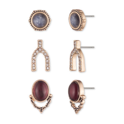 Chaps 3 Pair Earring Set