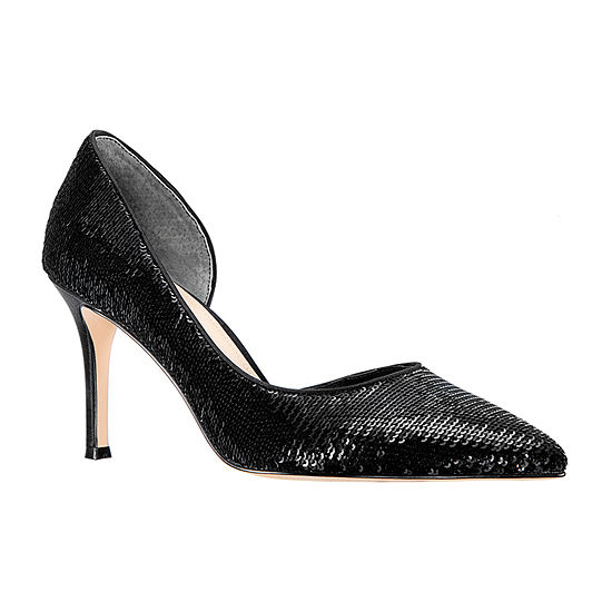 I Miller Womens Cathia Slip On Pointed Toe Cone Heel Pumps