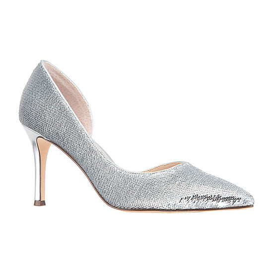 I. Miller Womens Cathia Slip-on Pointed Toe Cone Heel Pumps