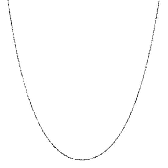 "14K White Gold 14-24"" Solid Cable Chain Necklace"