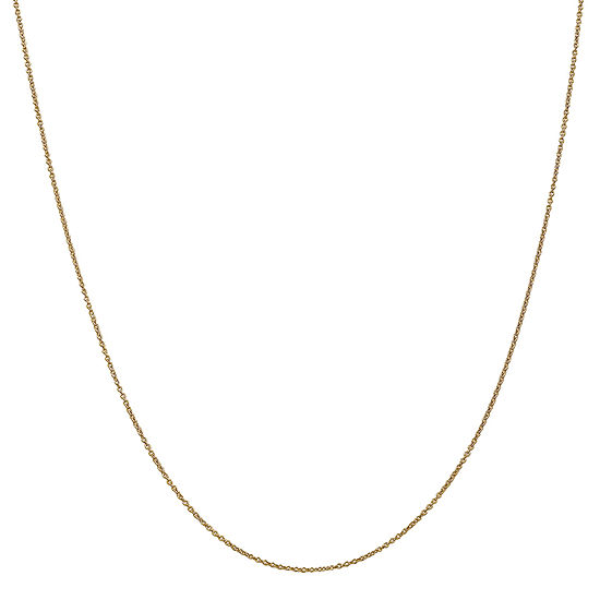 14K Gold Solid Cable Chain Necklace