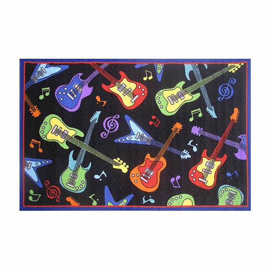 Guitars Rectangular Indoor Rugs