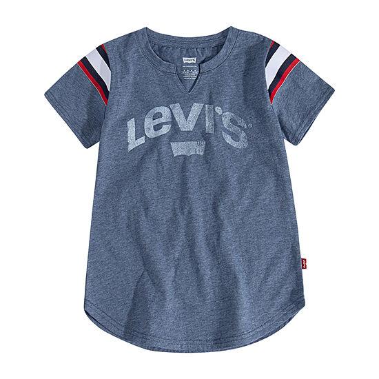 Levi's Big Girls V Neck Short Sleeve T-Shirt