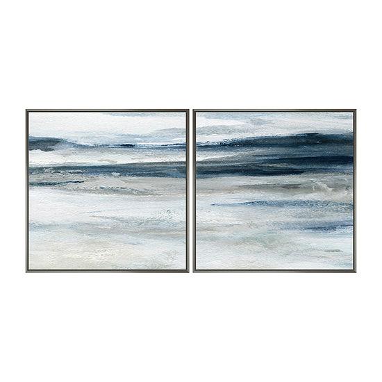 Boston Warehouse Set Of 2 18x18 Ocean Currents Canvas Art