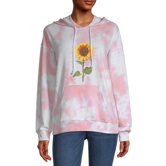 Miken Juniors Womens Hooded Neck Long Sleeve Tie-dye Sweatshirt