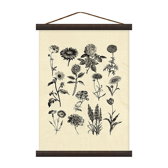 Boston Warehouse 18x24 Cut Floral Stems Canvas Art