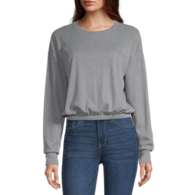 Cut And Paste Juniors Womens Round Neck Long Sleeve Sweatshirt