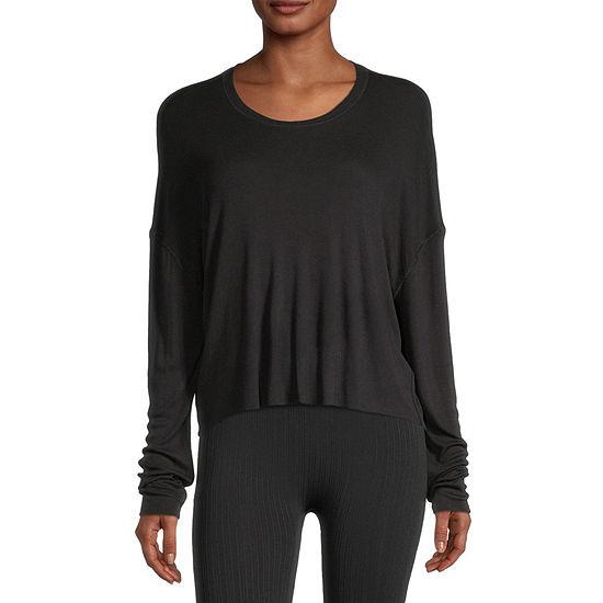 Flirtitude Juniors -Womens Round Neck Long Sleeve T-Shirt