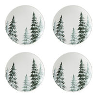 Enchante Enchanted Woods 4-pc. Salad Plate, One Size , White