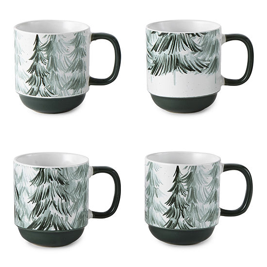 Enchante Enchanted Woods Tree Stacker 4-pc. Coffee Mug