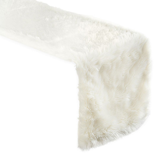 North Pole Trading Co. Faux Fur Table Runner