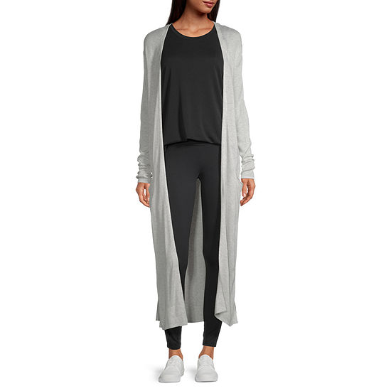 Stylus Duster Womens Long Sleeve Open Front Cardigan