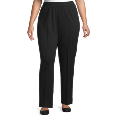 Alfred Dunner-Plus Knightsbridge Station Womens Slim Pull-On Pants