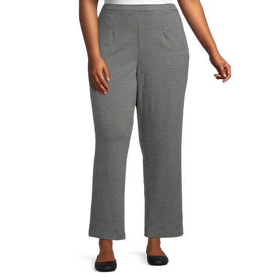 Alfred Dunner Knightsbridge Station Womens Straight Pull-On Pants