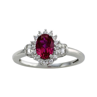 Lab-Created Ruby & White Sapphire Ring