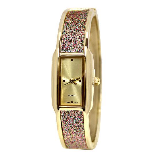 Decree® Concepts Womens Glitz Bangle Watch