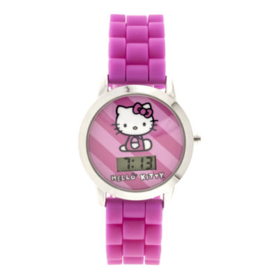 Kids Character Silicone Strap Watch with Molded Head Storage Case
