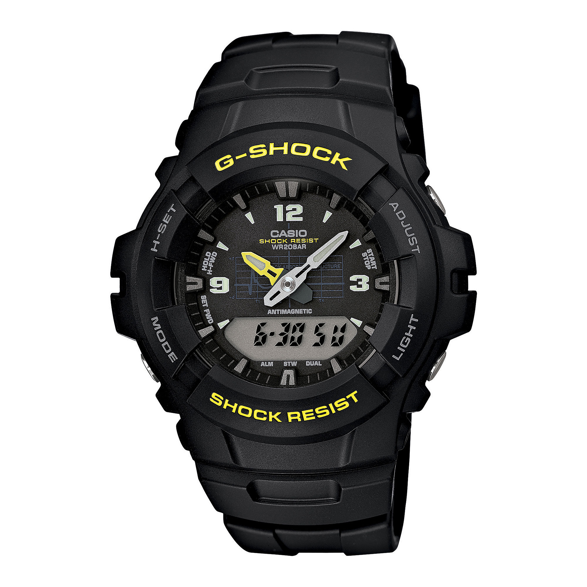 Casio G-Shock Mens Analog/Digital Chronograph Watch G100-9CM