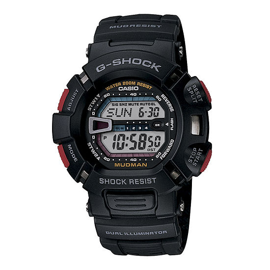 Casio G-Shock Mens Digital Black Strap Watch-G9000-1v