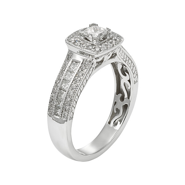 LIMITED QUANTITIES 1 CT. T.W. Diamond 14K White Gold Bridal Ring Set