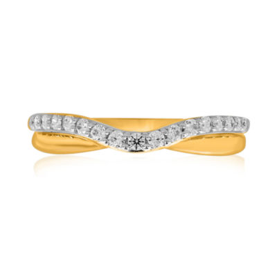 10K Yellow Gold ¼ CT. T.W. Diamond Bump Wedding Band