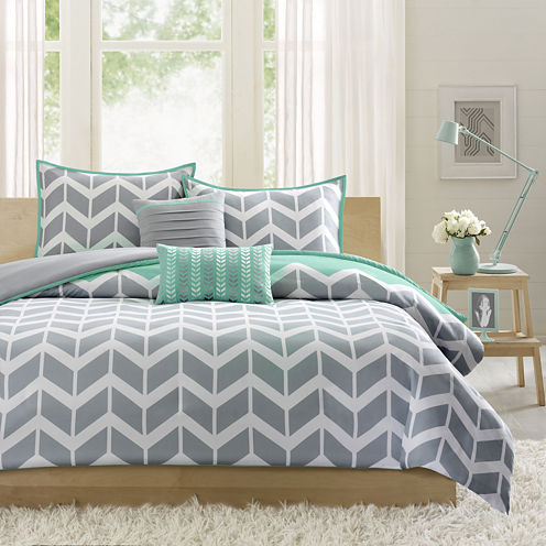 Intelligent Design Laila Chevron Duvet Cover Set