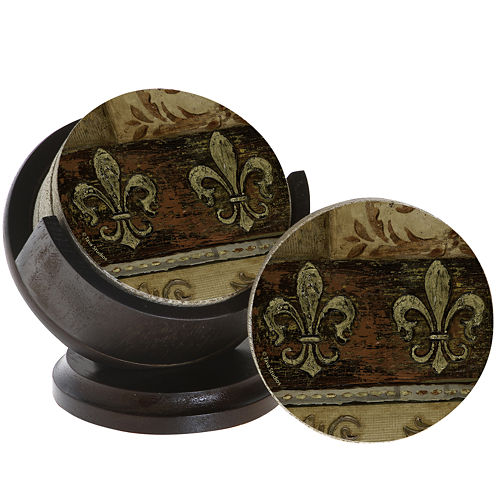 Thirstystone® Fleur De Lis Set of 4 Coasters