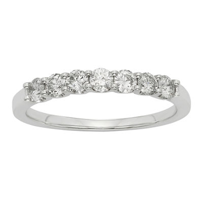 1/2 CT. T.W. Diamond 14K White Gold Band Ring