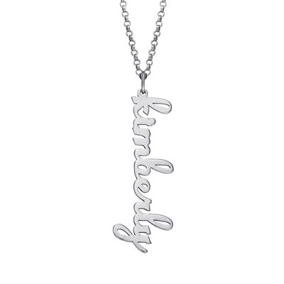 Personalized Vertical Name Pendant Necklace