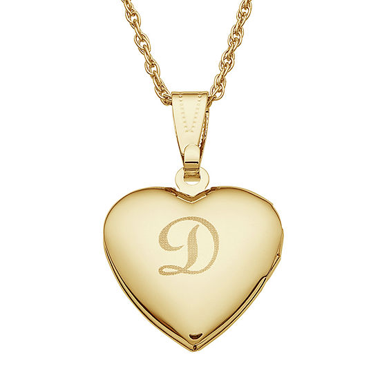 Personalized Gold Pendant Personalized gold tone over brass girls engraved heart locket personalized gold tone over brass girls engraved heart locket pendant necklace audiocablefo