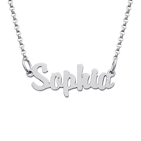 fa5c97fdd32b35 Personalized Sterling Silver Girls Script Name Necklace - JCPenney