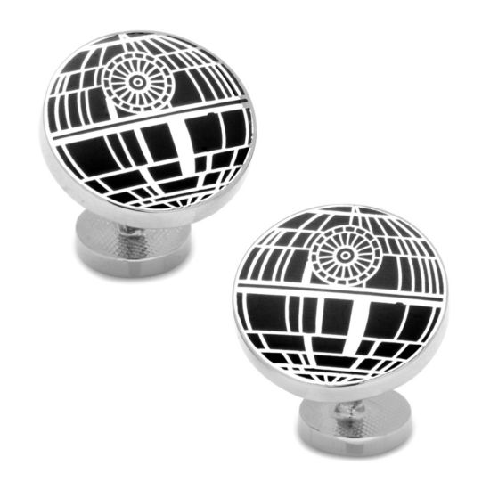 Star Wars® Recessed Matte Death Star Cuff Links
