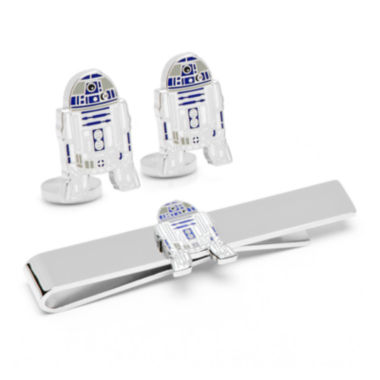 Star Wars® R2D2 Cuff Links and Tie Bar Gift Set