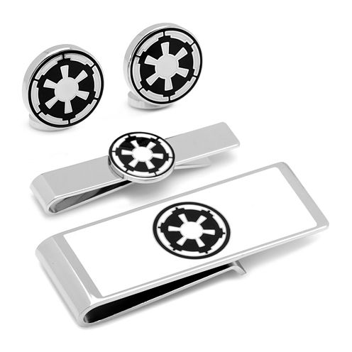 Star Wars® Imperial Symbol Cuff Links, Money Clip & Tie Bar Gift Set