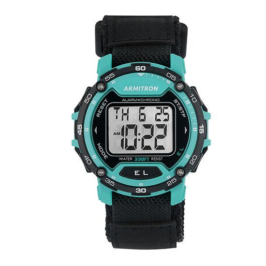 Armitron Pro Sport Mens Black Strap Watch-40/8291tel