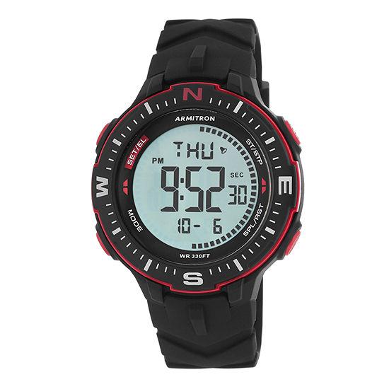 Armitron Pro Sport Mens Digital Black Strap Watch-40/8391brd