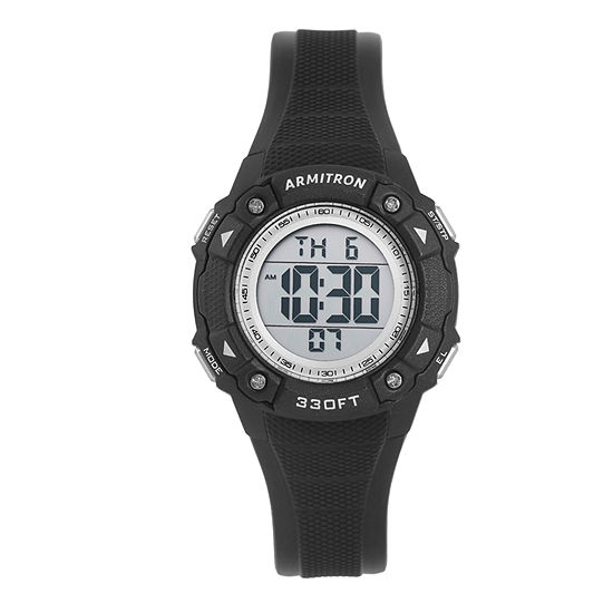 Armitron Pro Sport Womens Digital Black Strap Watch-45/7081blk