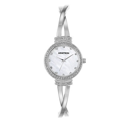 Armitron Now Womens Silver Tone Watch -75/5474mpsv