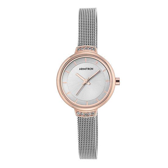 Armitron Now Womens Silver Tone Watch -75/5476svtr