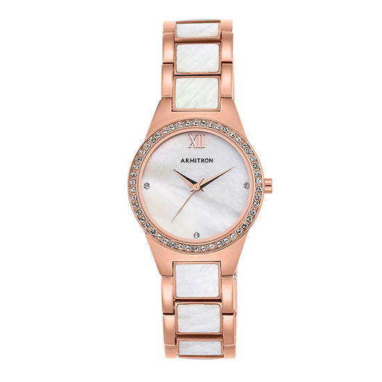 Armitron Now Womens Crystal Accent Rose Goldtone Bracelet Watch - 75/5468mprg
