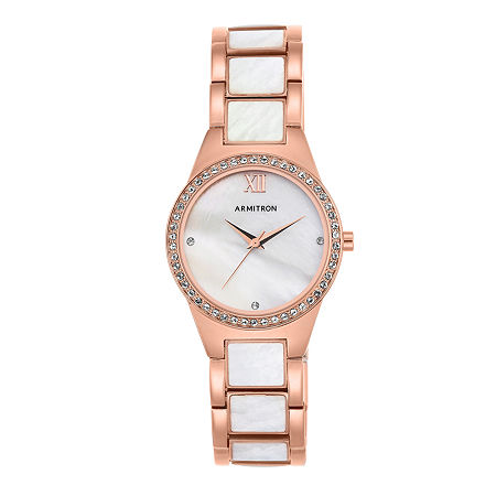 Armitron Now Womens Crystal Accent Rose Goldtone Bracelet Watch - 75/5468mprg, One Size
