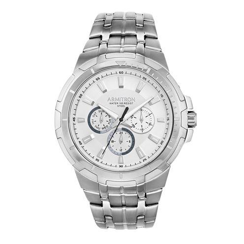 Armitron All Sport Mens Silver Tone Watch -20/5144svsv