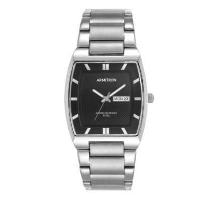 Armitron All Sport Mens Silver Tone Bracelet Watch-20/5211bksv